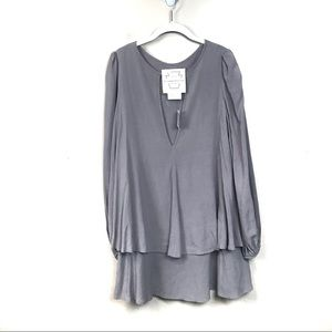 New with tags free people gray tunic layered